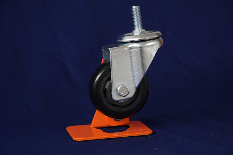 Medium duty double ball bearing threaded stem caster